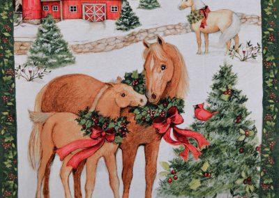Christmas Horse Panel
