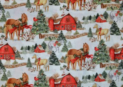 Christmas Horse all over print