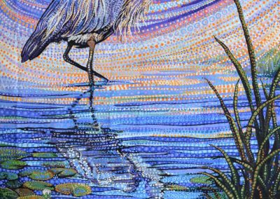 Water Garden - Blue Heron Panel for Northcott